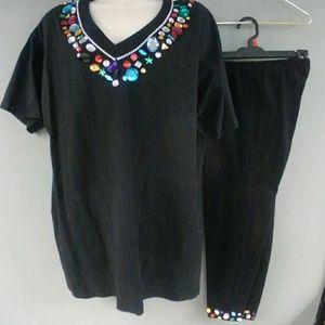Retro 90s Big Jewel Tshirt & Leggings